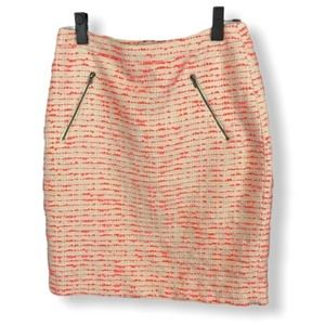 Halogen pencil skirt - pink and cream